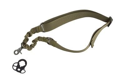 Jednopunktowy pas nośny Bungee z montażem – oliwkowy